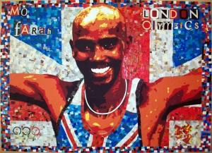 Mo Farh paper mosaic portrait