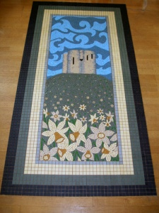7ft x 3ft mosaic path to Homelea guest house, York