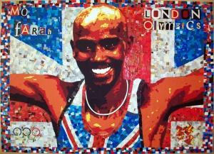 Olympic long distance runner Mo Farah